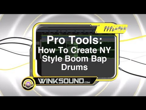 Pro Tools: How To Create NY Style Boom Bap Drums | WinkSound