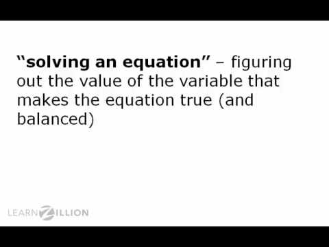 Understand equations using balance scales - 6.EE.4
