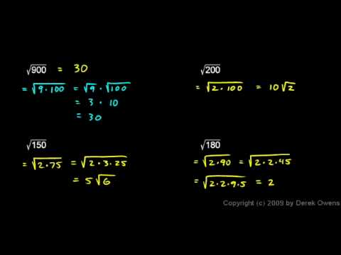 Algebra Review 7.2 - Roots and Radicals