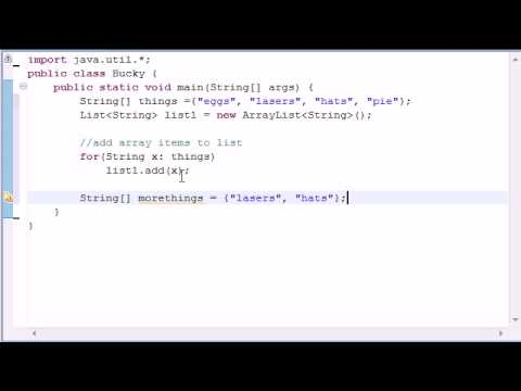 Intermediate Java Tutorial - 4 - Introduction to Collections