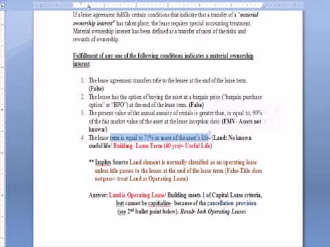 Intermediate Accounting 28: Leases- Capital, Operating