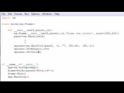 wxPython Programming Tutorial - 11 - Spinners