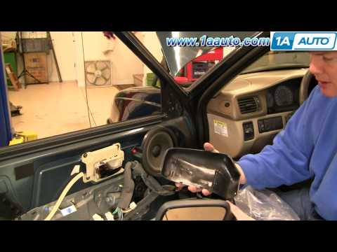 How To Install Replace Broken Side Rear View Mirror Volvo S70 98-00 1AAuto.com