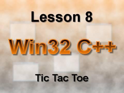 C++ Win32 Lesson 8: Tic Tac Toe