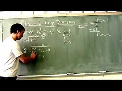 Polynomial Long Division Video 1