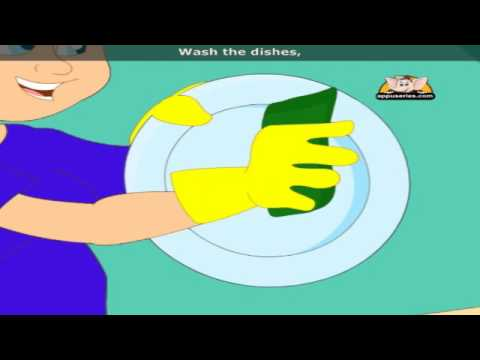 Wash the Dishes - Nursery Rhyme with Lyrics