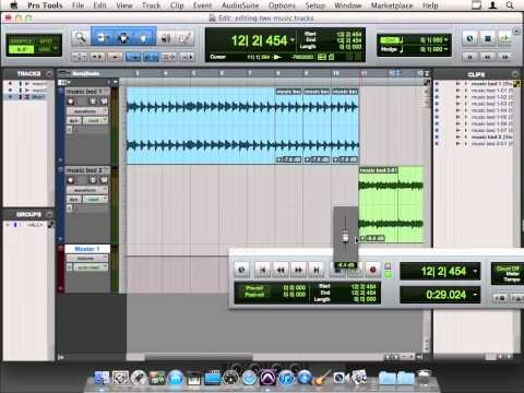 Avid Pro Tools 10 Tutorial | Editing Two Music Tracks