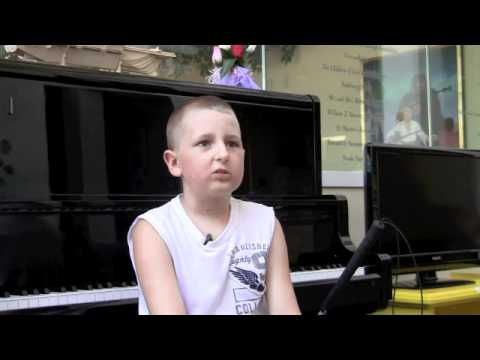Pediatric Cancer Survivor Gage Hancock-Stevens Sings