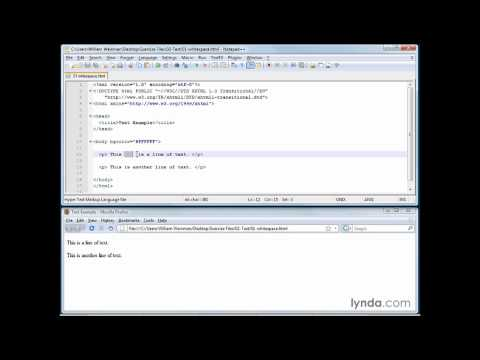 HTML, XHTML: Understanding how empty space is formatted in XHTML | lynda.com