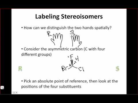 IE Organic Lecture 8.3 - Stereochemical Descriptors