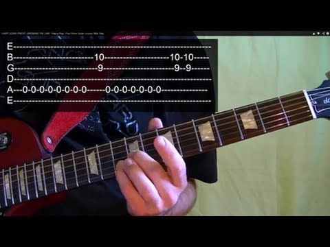 EASY!! BREAKING THE LAW ( Guitar Lesson ) by JUDAS PRIEST With Tabs