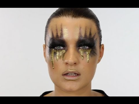 GOLD MIDAS TEARS CREATIVE MAKE-UP TUTORIAL