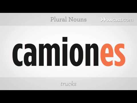 Learn Spanish / Plural Nouns