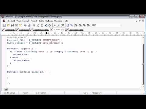Beginner PHP Tutorial - 141 - Getting User Data Part 1