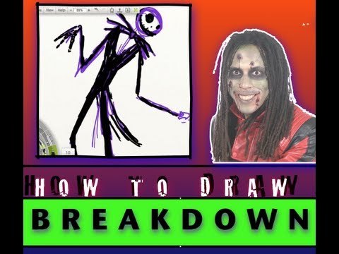 How to Draw Jack Skellington Breakdown
