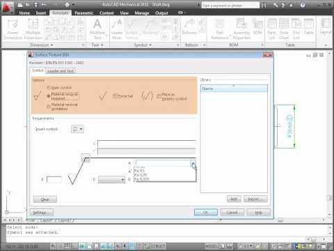Annotating with Symbols — AutoCAD Mechanical 2011
