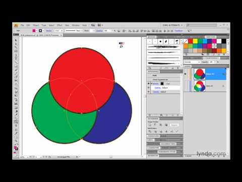 Illustrator: Creating interactions with Live Paint | lynda.com