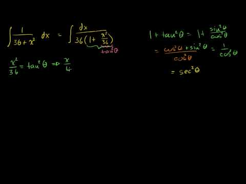 Integrals: Trig Substitution 2