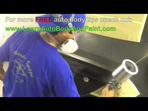 How To Spray Paint Your Car - Auto Body Repair School Training! Video 3/5