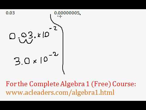 (Algebra 1) Conversion to Scientific Notation - Questions #9-10
