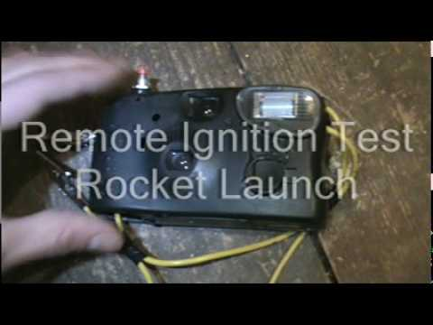 Homemade Remote Ignition System Test - BP Rocket Launch