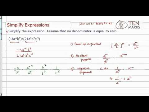 Simplify Exponential Expression using Division Property