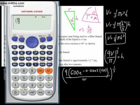 (v) Connected rates of Change using the Chain Rule Advanced A level example