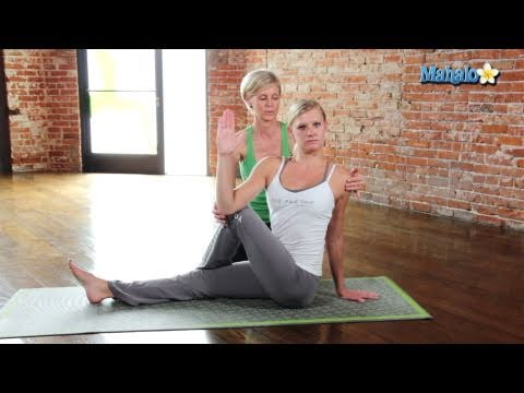 Yoga for Your Shoulders - Seated Spinal Twist Pose