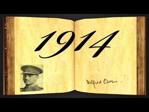 1914 by Wilfred Owen - Poetry Reading