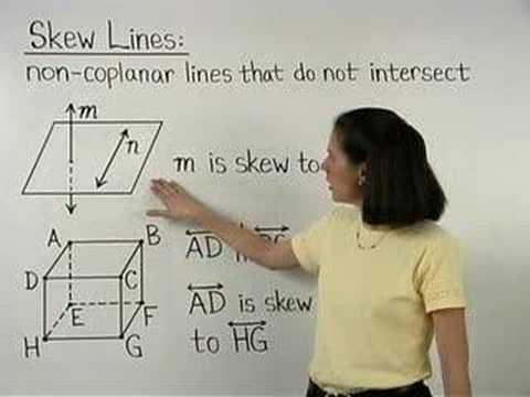 Skew Lines - YourTeacher.com - Geometry Help