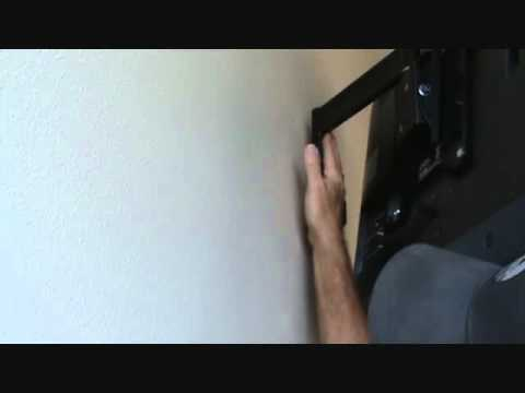 How to determine the outlet locations: behind a wall mount tv