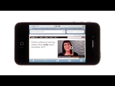 Tips for web browsing on the iPhone | lynda.com tutorial