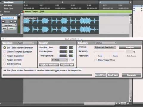 Pro Tools 9 Tutorial - Setting Triggers In Beat Detective