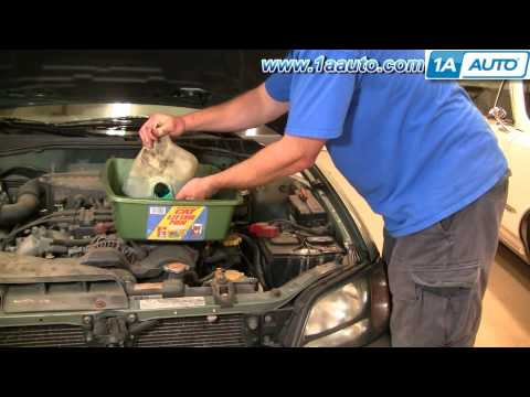 How To Install Replace Windshield Washer Reservoir Bottle Subaru Outback 01-04 1AAuto.com