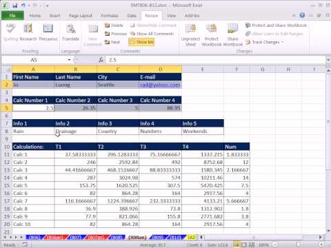 Excel Magic Trick 808: Copy Sheet and link Only Cells With Raw Data Go To Special Select Constants