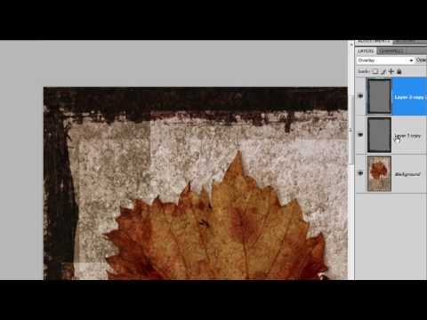 How to make a painted grunge border with Photoshop - Week 71