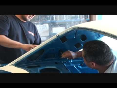 Automotive Upholstery And Interior-How To Install a Vinyl Top. Part 4