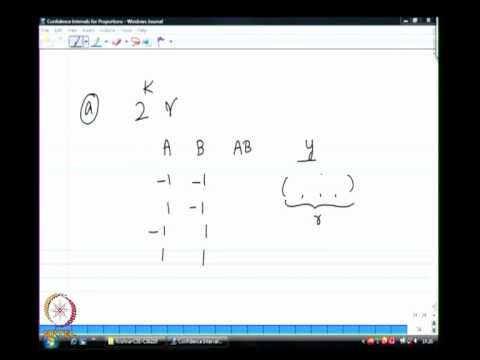 Mod-01 Lec-35 2k r factorial design and 2k-p fractional factorial design