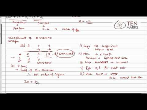 Synthetic Division Method