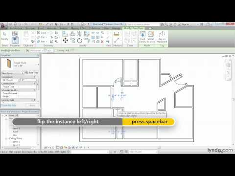 Revit Architecture: How to add doors and windows | lynda.com tutorial