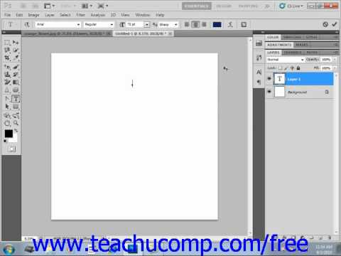 Photoshop CS5 Tutorial Entering Text Adobe Training Lesson 11.2
