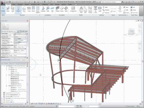 Autodesk Revit Structure 2011 -  Slanted Columns
