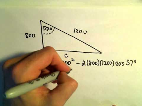 Law of Cosines, Example 2