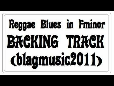 Reggae Blues Backing Track in F minor