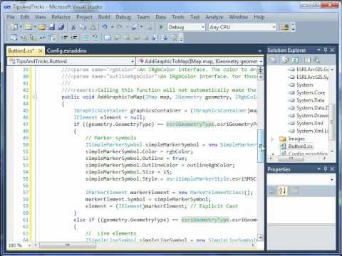 ArcGIS Developer - Visual Studio and ArcObjects Tips and Tricks