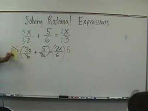 Algebra 2 - Solving Rational Equations