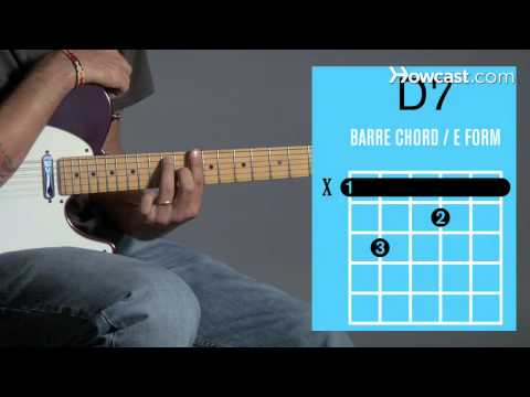 How to Play Guitar: Beginners / Barre Chords: D7