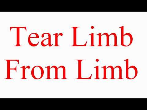 Tear Limb From Limb - Vocabulary Builder - ESL British English Pronunciation