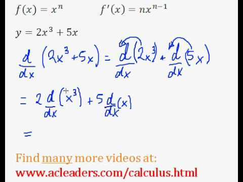 Calculus - POWER RULE explained through an example. EASY!!! (pt. 2)