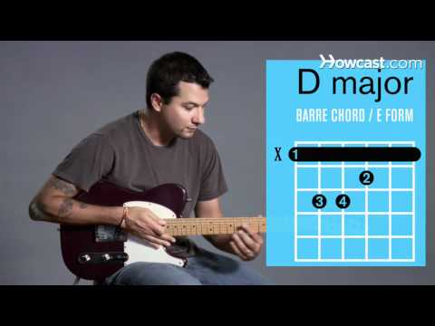 How to Play Guitar: Beginners / Barre Chords: D Major